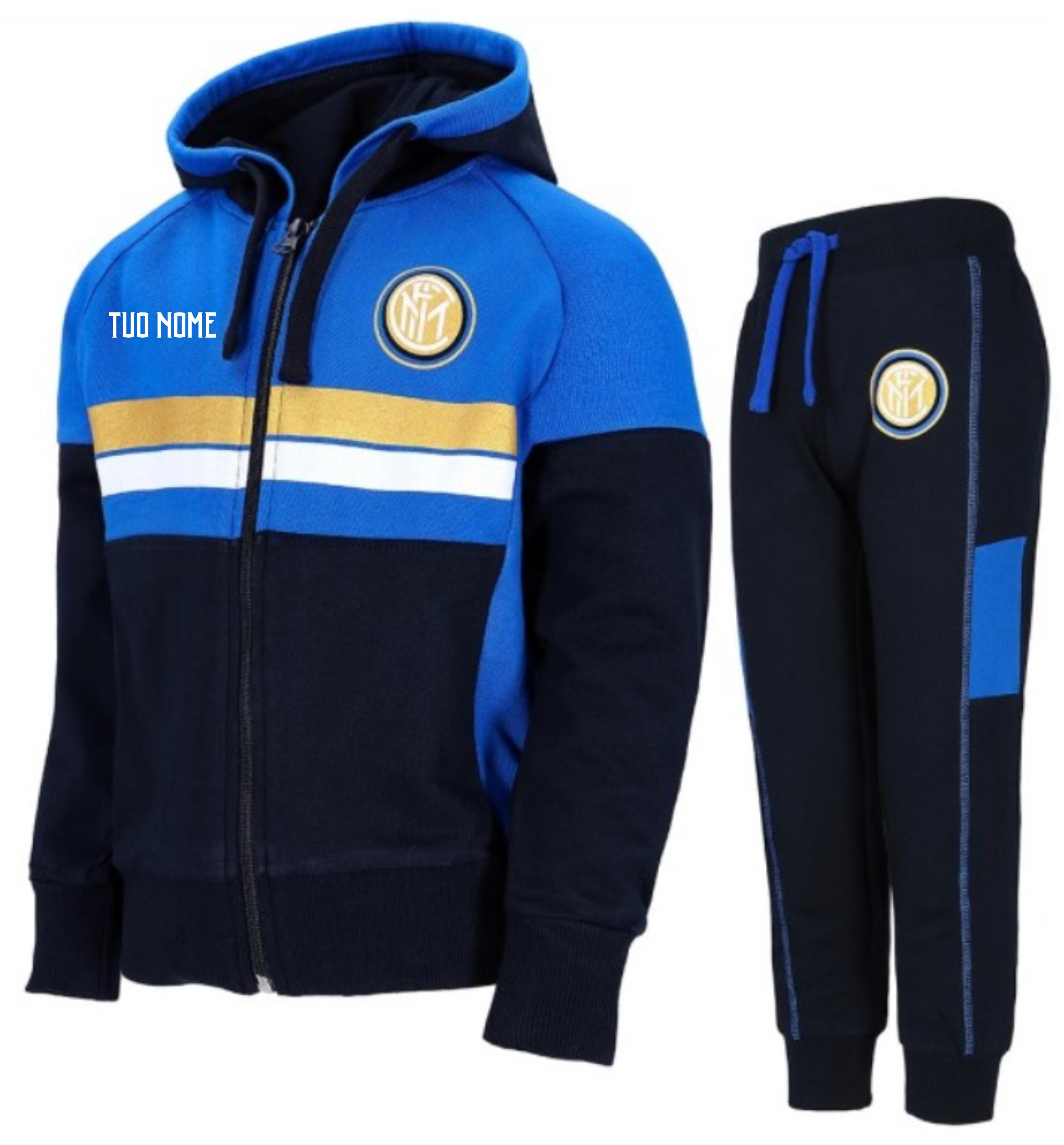 891694b2e8aa77 Tuta Con Cappuccio Ufficiale Bambino F.C. Inter – Maestri del Calcio