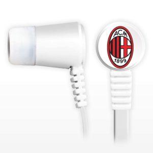 Cuffiette Auricolari Ufficiali Con Microfono Con Tasto Funzione A.C. Milan