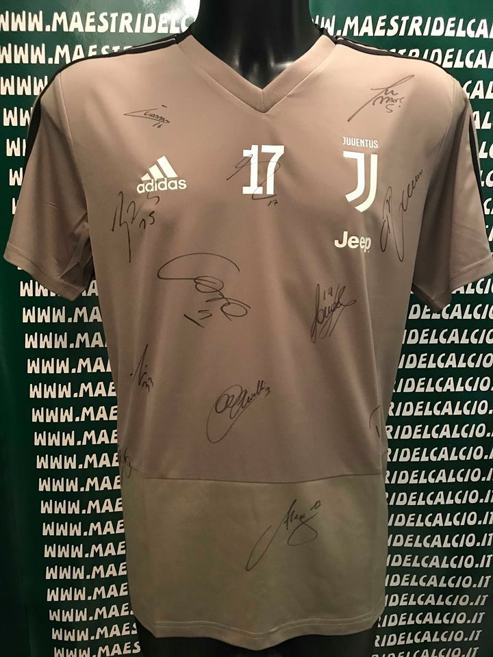 "Maglia Allenamento Beige ""Mandzukic 17"" Autografata F.C. Juventus 2018/2019"