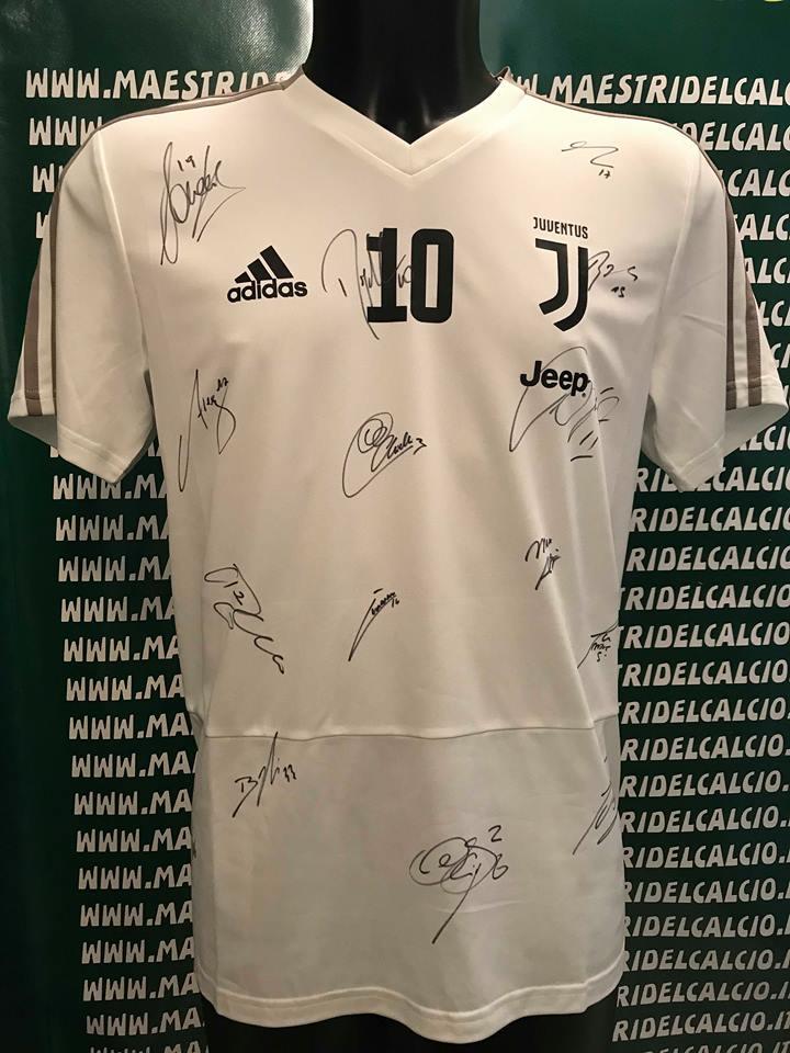 "Maglia Allenamento Bianca ""Dybala 10"" Autografata F.C. Juventus 2018/2019"