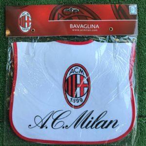 Bavaglino Neonato Logo Ufficiale A.C. Milan