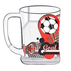 Boccale in Vetro Ufficiale A.C. Milan