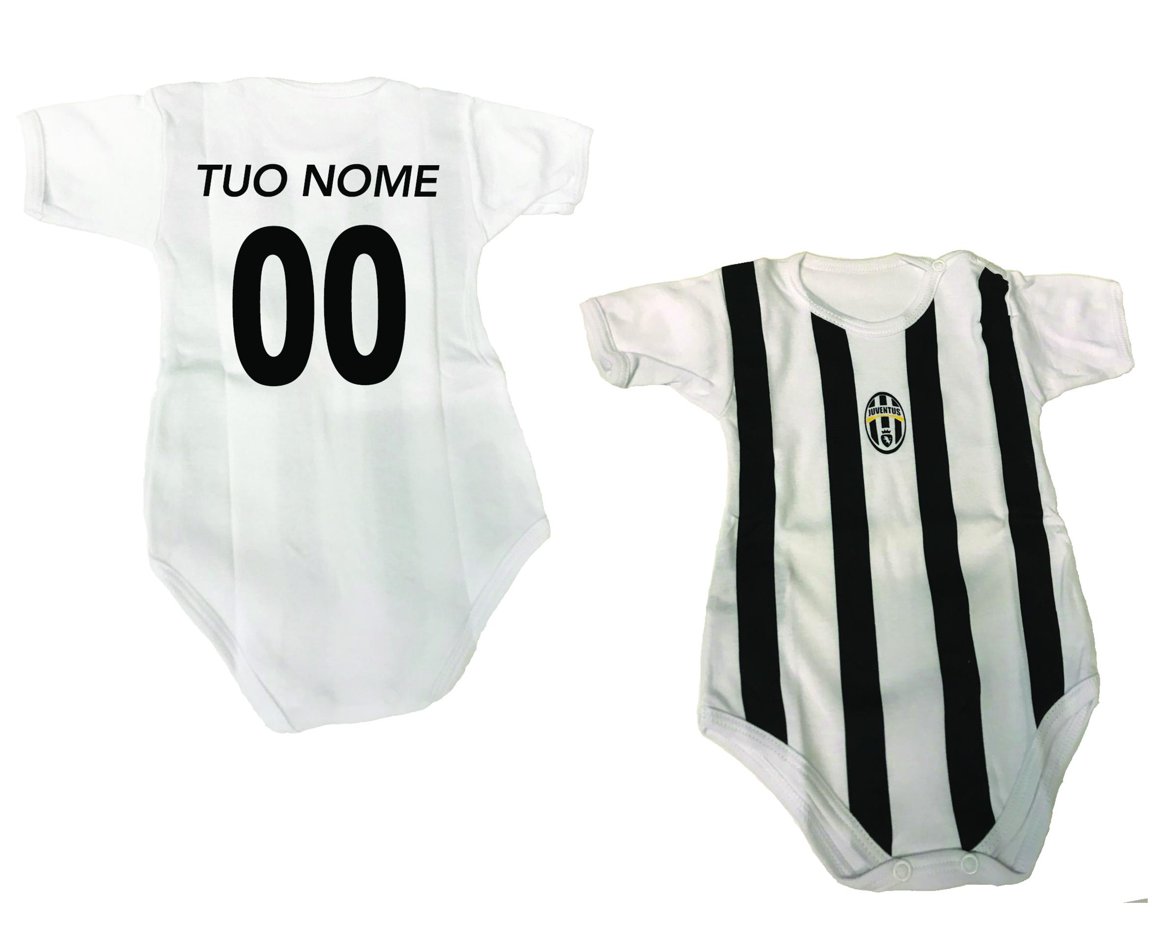 Body Neonato Bianconero Personalizzato Ufficiale F.C. Juventus