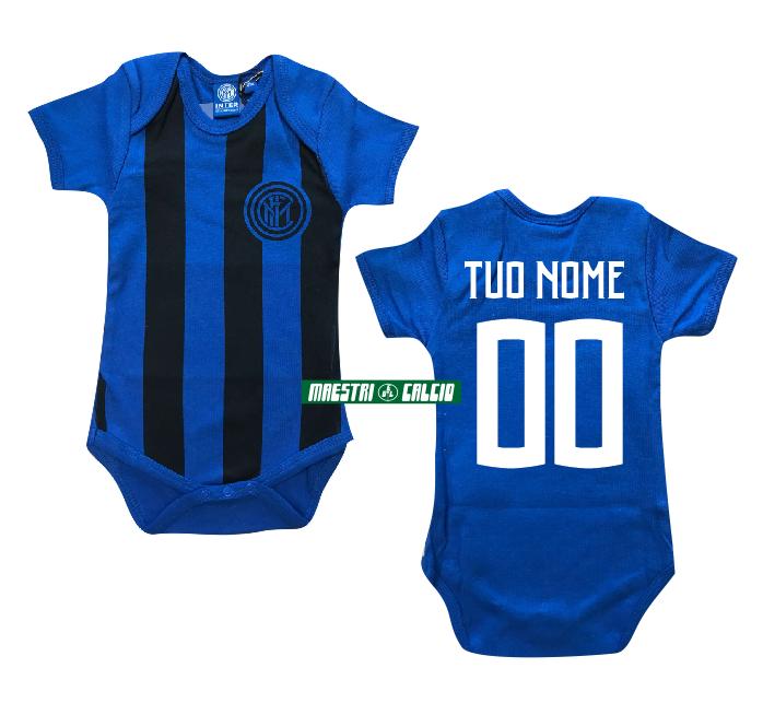 Body Neonato Neroblu Personalizzato Ufficiale F.C. Inter