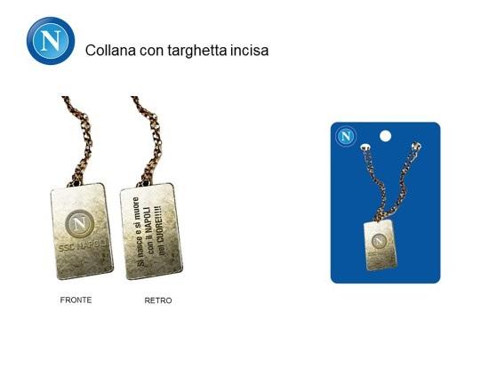 Collana Con Targhetta Incisa Ufficiale S.S.C. Napoli