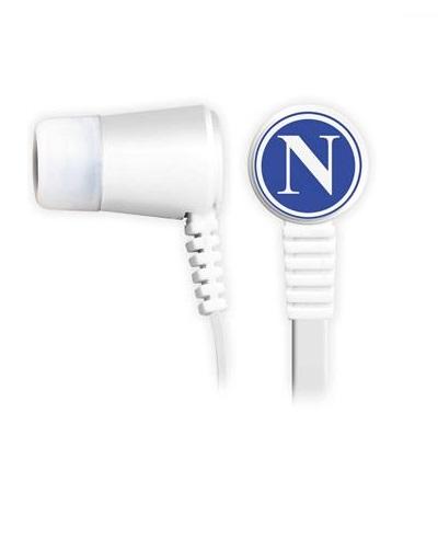 Cuffiette Auricolari Ufficiali Con Microfono Con Tasto Funzione S.S.C. Napoli