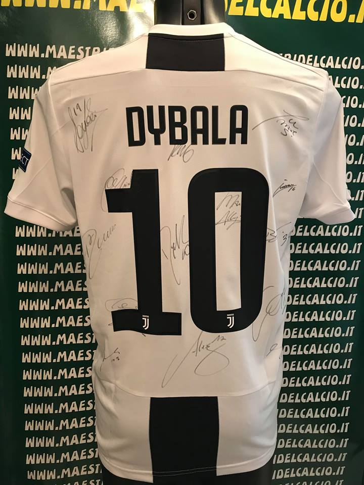 "Maglia Gara Home Europa ""Dybala 10"" Autografata F.C. Juventus 2018/2019"