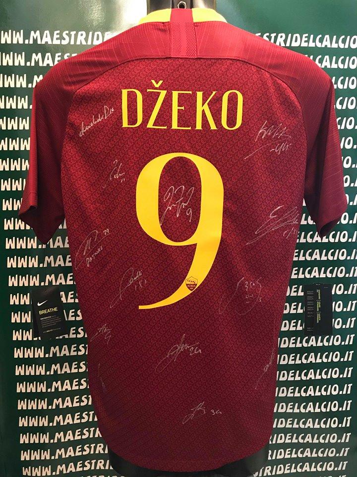 "Maglia Gara Home ""Dzeko 9"" Autografata A.S. Roma 2018/2019"