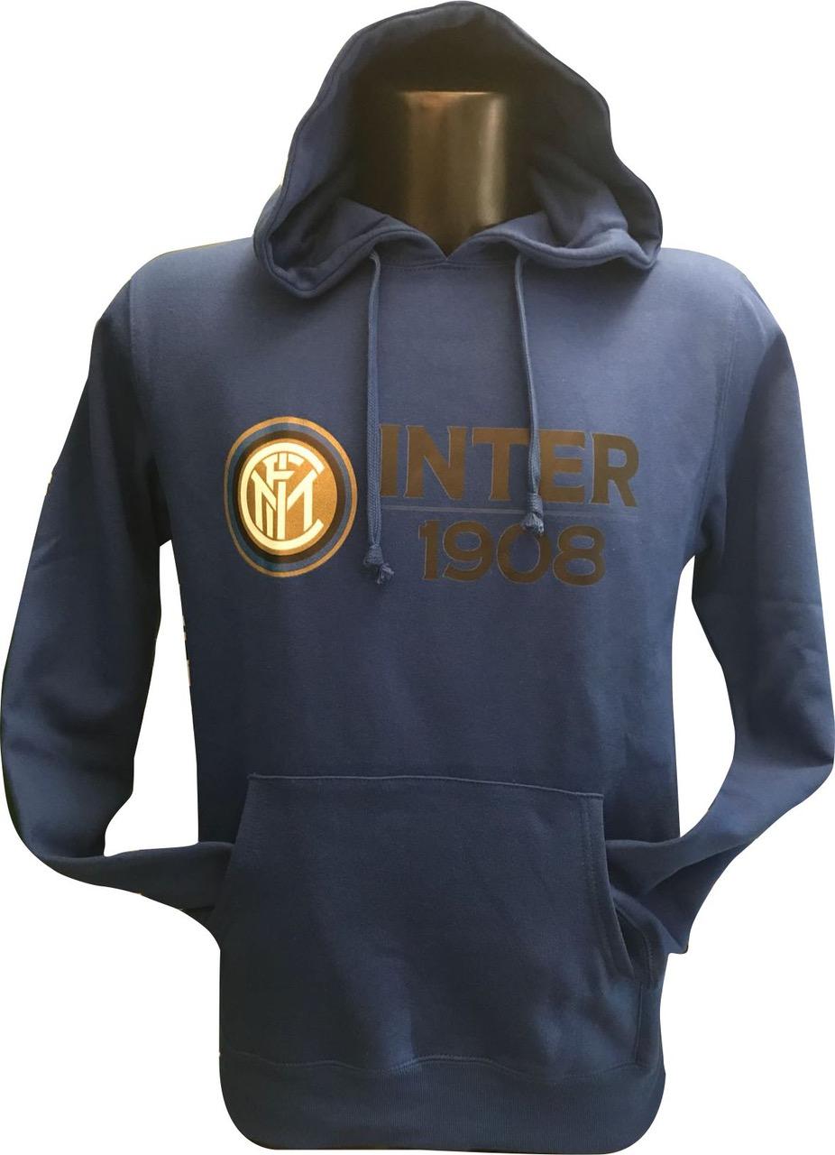 Felpa Cappuccio Blu Logo F.C. Inter