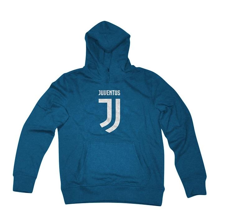 Felpa Cappuccio Blu Ufficiale Bambino F.C. Juventus