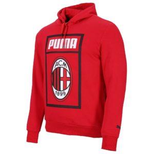Felpa Cappuccio Fan Rossa A.C. Milan 2018/2019