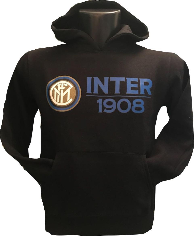 Felpa Cappuccio Nera Bambino F.C. Inter
