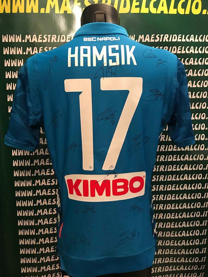 "Maglia Gara Home ""Hamsik 17"" Autografata S.S.C. Napoli 2018/2019"