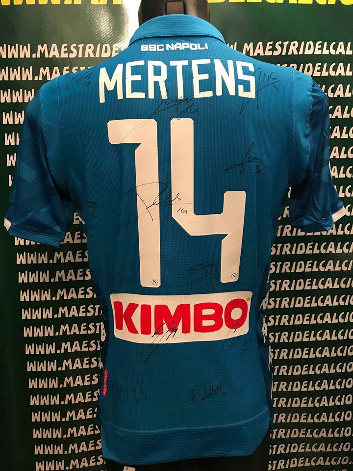 """Maglia Gara Home """"Mertens 14"""" Autografata S.S.C. Napoli 2018/2019"""