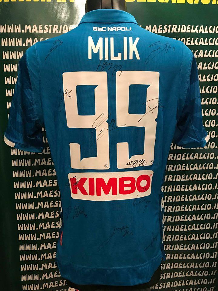 """Maglia Gara Home """"Milik 99"""" Autografata S.S.C. Napoli 2018/2019"""