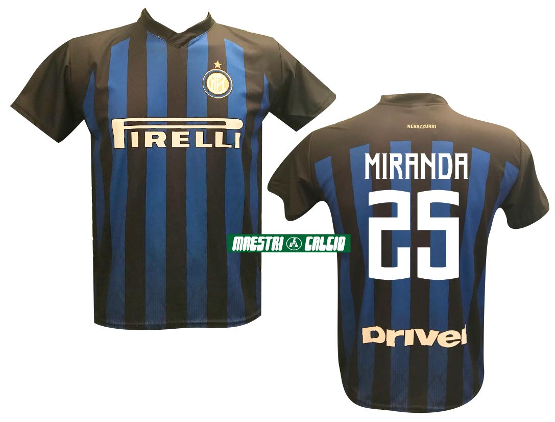 """Maglia Replica Ufficiale """"MIRANDA 25"""" F.C. Inter 2018/2019"""