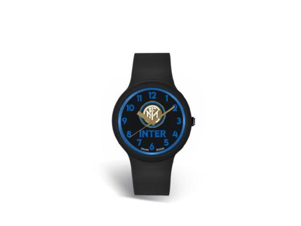 Orologio Quadrante Nero Scritta Blu Ufficiale Bambino F.C. Inter