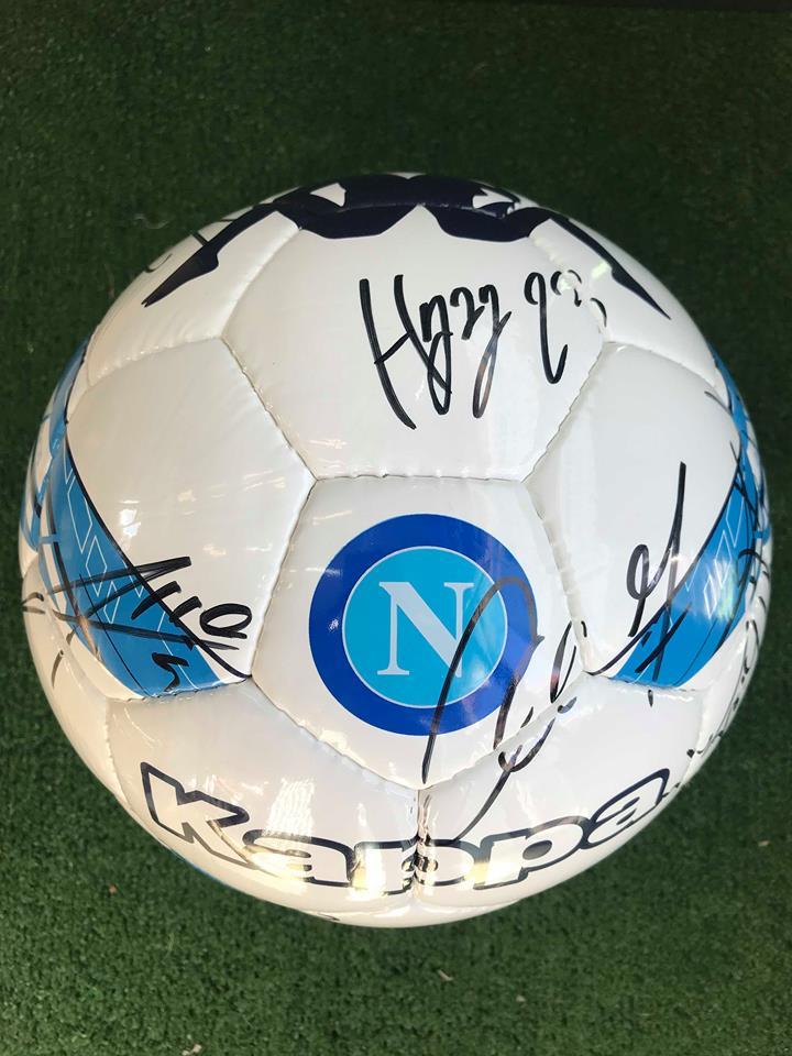 Pallone Ufficiale Autografato S.S.C. Napoli 2018/2019