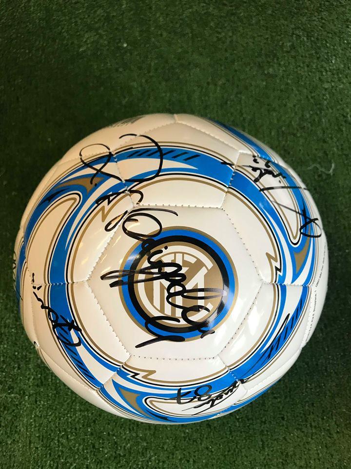 Pallone Ufficiale Bianco Autografato F.C. Inter 2018/2019