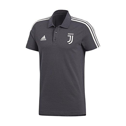 Polo 3 Stripes Nera Ufficiale F.C. Juventus 2017/2018