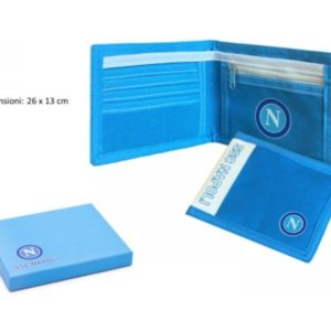 Portafoglio Con Scatola Ufficiale Azzurro S.S.C. Napoli