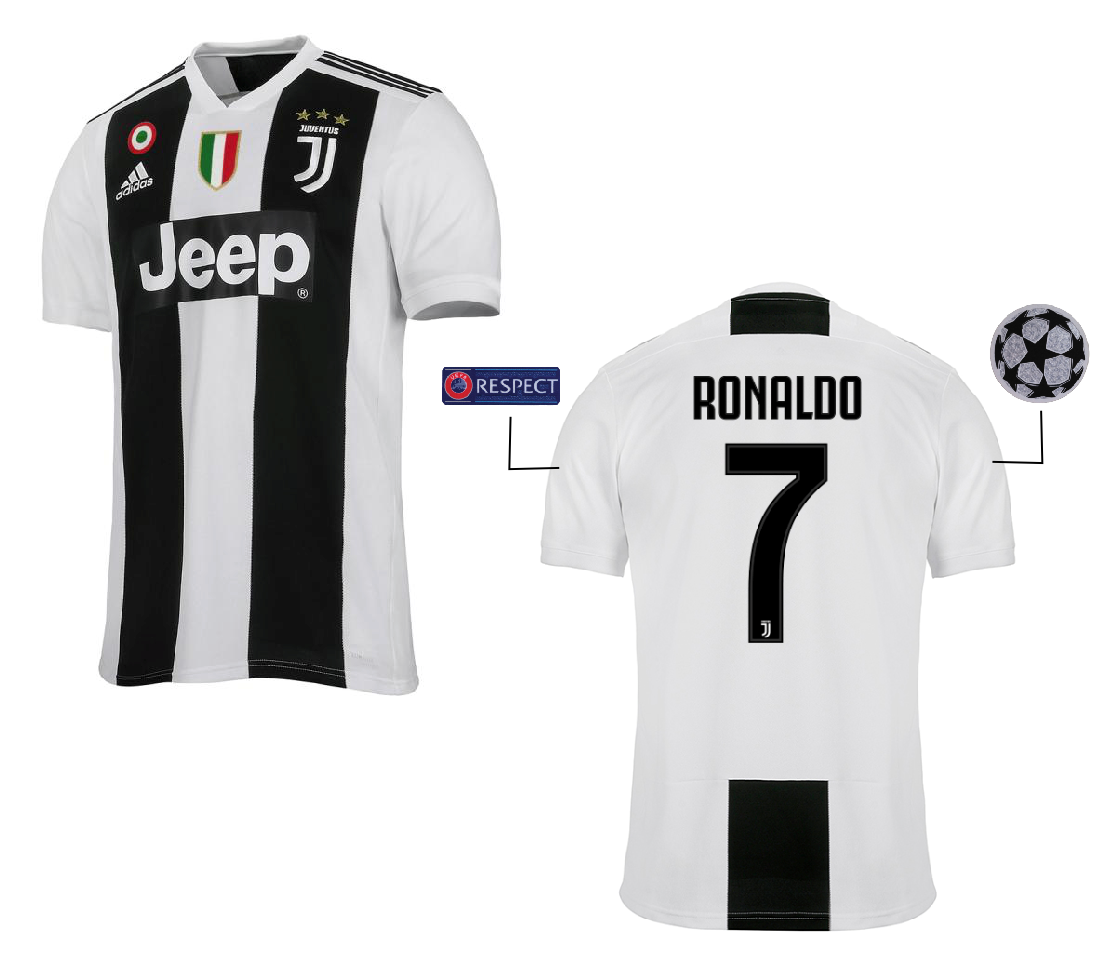"Maglia Gara Home Champions League ""RONALDO 7"" F.C. Juventus 2018/2019"