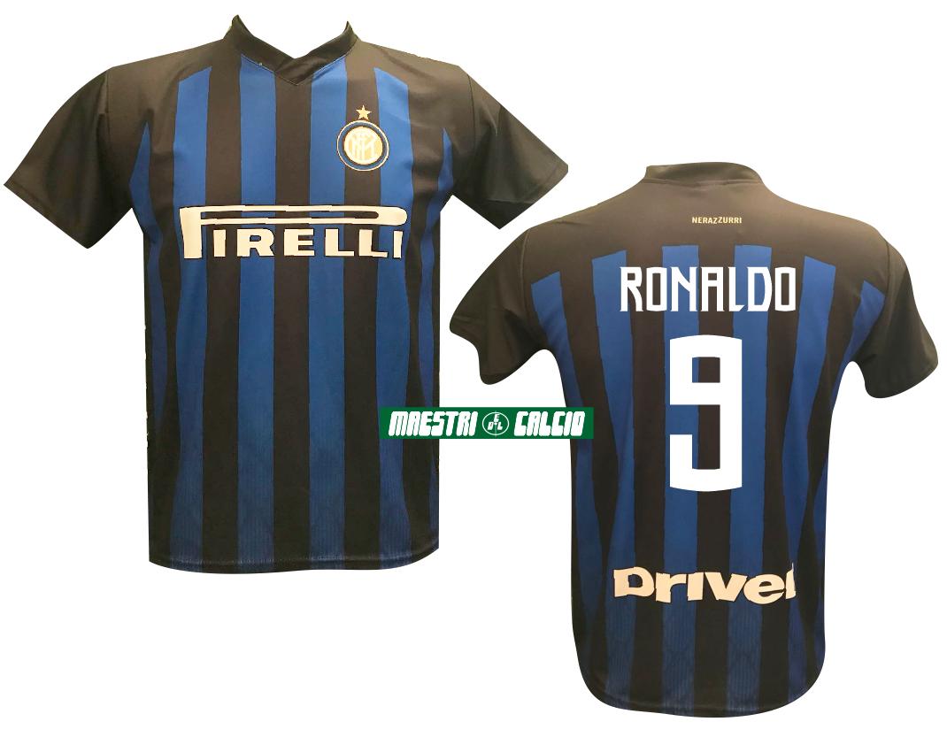 """Maglia Replica Ufficiale """"RONALDO 9"""" F.C. Inter 2018/2019"""