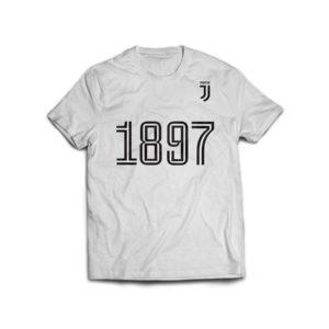 "T-shirt Bianca ""1897"" Ufficiale F.C. Juventus"