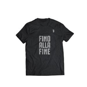 """T-shirt """"Fino Alla Fine"""" Ufficiale F.C. Juventus"""