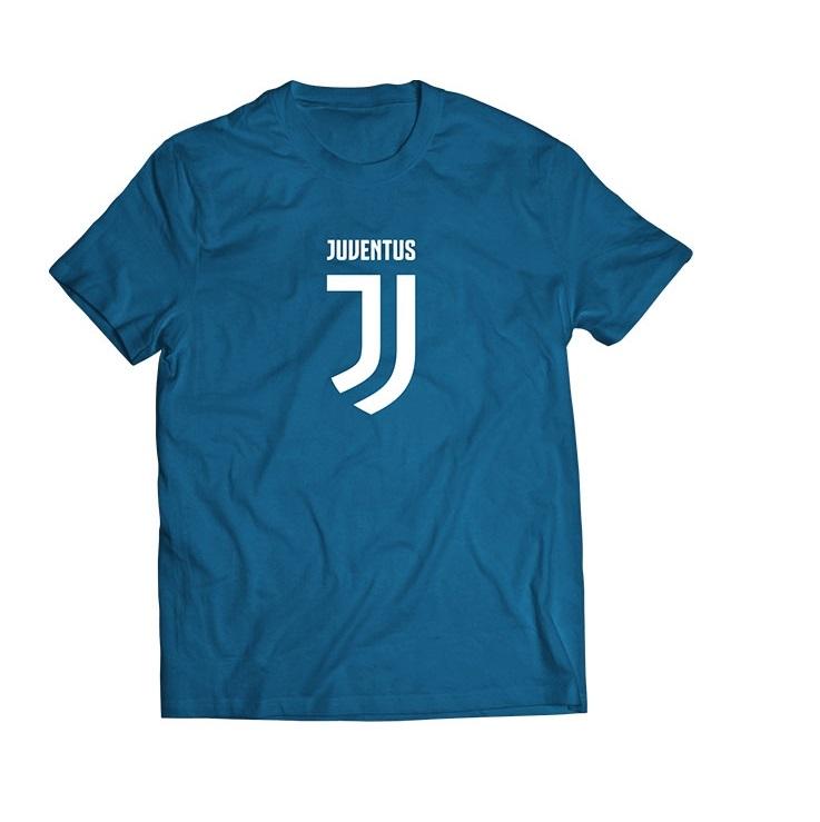 T-Shirt Logo Blu Ufficiale Bambino F.C. Juventus 2017/2018