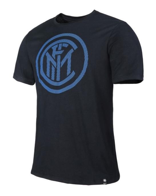 T-Shirt Nera Logo Ufficiale F.C. Inter 2017/2018
