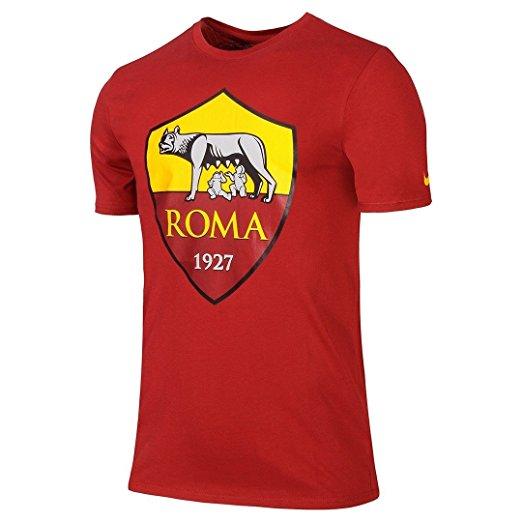 T-Shirt Rossa Logo Ufficiale A.S. Roma 2017/2018