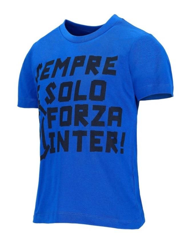 "T-shirt ""Forza Inter"" Blu Ufficiale Bambino F.C. Inter"