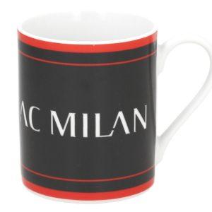 Tazza Cilindrica Scritta Nera Ufficiale A.C. Milan