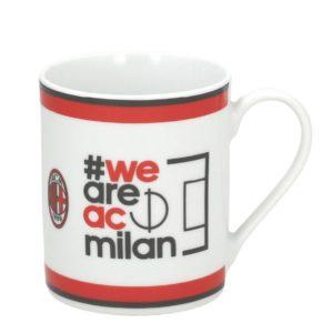 """Tazza Cilindrica Scritta """"WE ARE AC MILAN"""" Ufficiale A.C. Milan"""