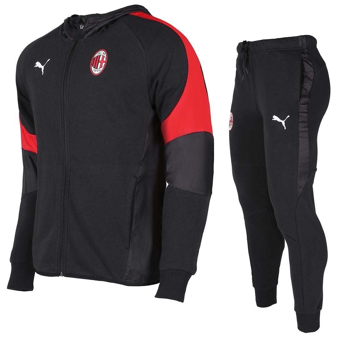 Tuta Con Cappuccio Nera Ufficiale A.C. Milan 2018/2019