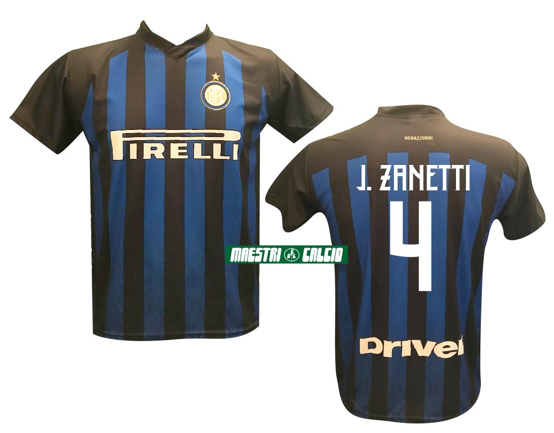 """Maglia Replica Ufficiale """"ZANETTI 4"""" F.C. Inter 2018/2019"""