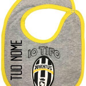 """Bavaglino Neonato """"Tifo Juve"""" Personalizzato Ufficiale F.C. Juventus"""