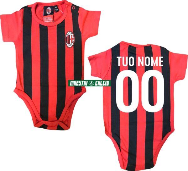 Body Neonato Rossonero Personalizzato Ufficiale A.C. Milan