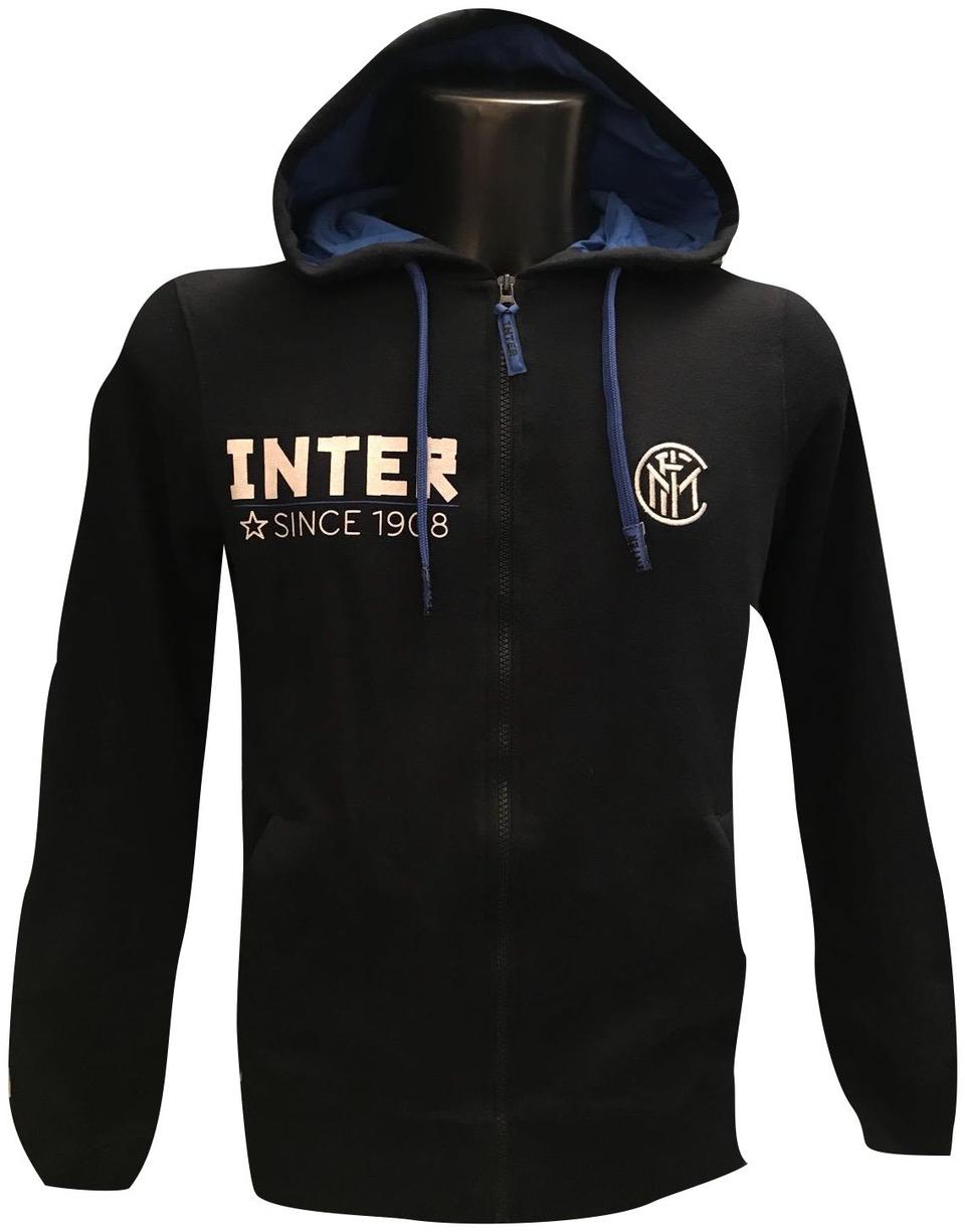 Felpa Cappuccio Con Zip Ufficiale Bambino F.C. Inter