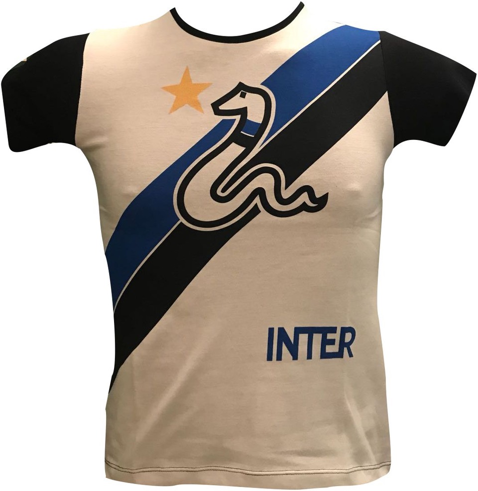 T-shirt Biscione Bianca Ufficiale Bambino F.C. Inter