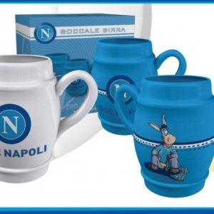 Boccale Ceramica Bianco Ufficiale S.S.C. Napoli