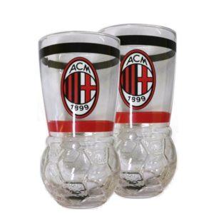Set Ufficiale 2 Bicchieri In Vetro A.C. Milan