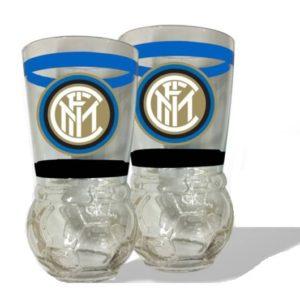 Set Ufficiale 2 Bicchieri In Vetro F.C. Inter