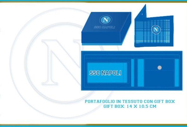 Portafoglio Con Scatola Ufficiale S.S.C. Napoli