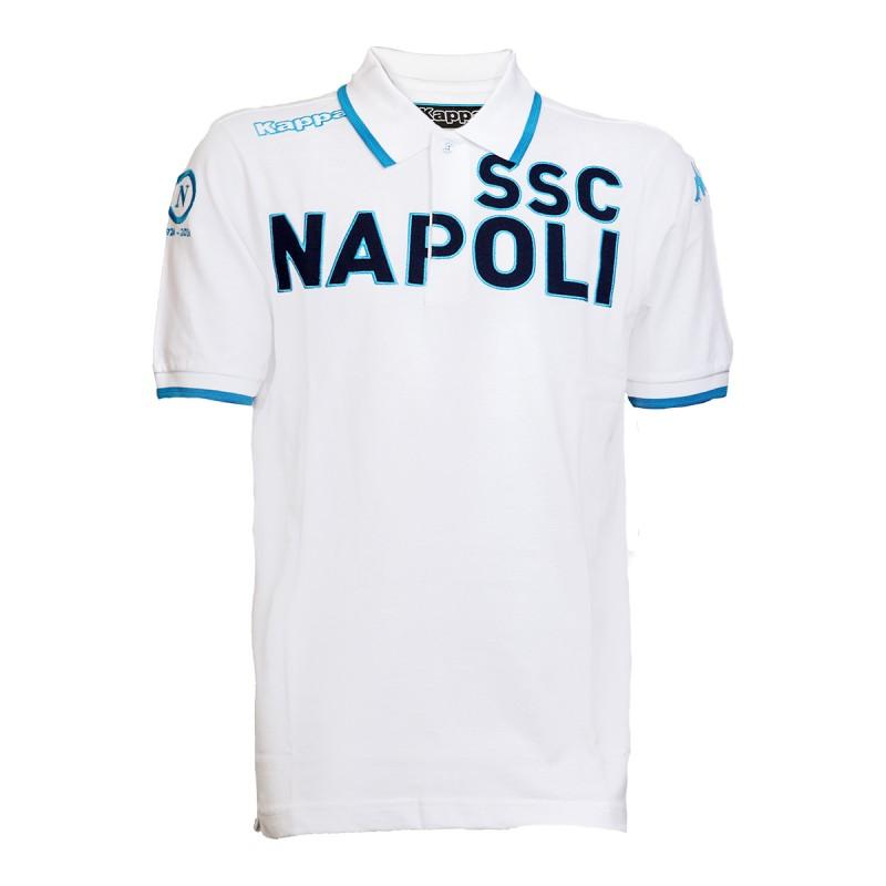 """Polo Ufficiale """"90 Anni"""" Bianca S.S.C. Napoli 2016/2017"""