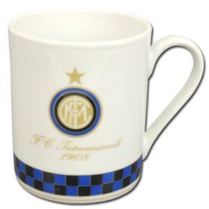 Tazza Cilindrica Bianca Ufficiale F.C. Inter