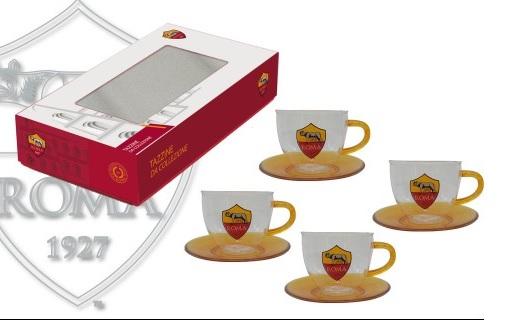 Set Tazzine Caffè In Vetro Ufficiali A.S. Roma