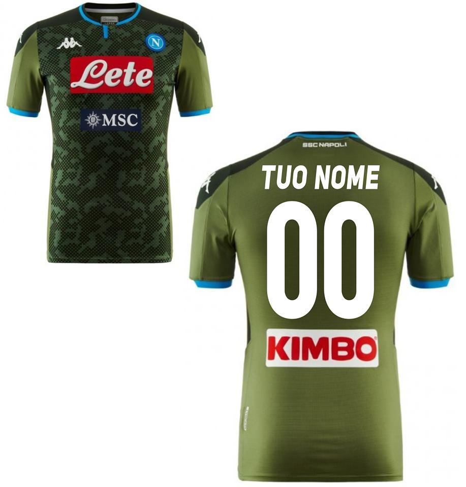 Azzurro XXXL SSC Napoli Maglia Gara Home 2018/2019 Uomo Calcio Fan ...