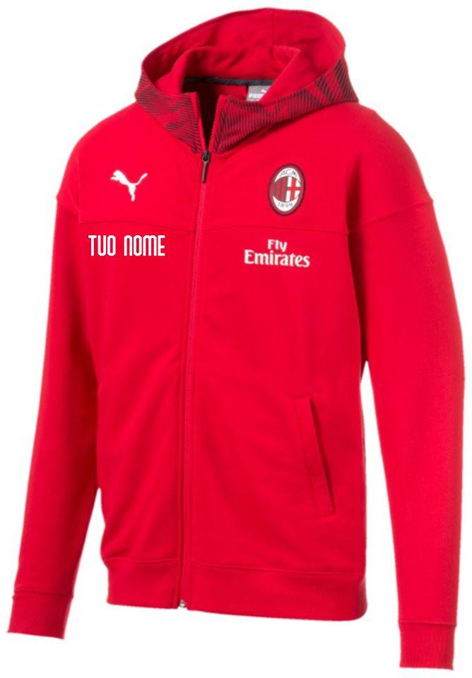 Felpa Rappresentanza Nera A.C. Milan 20192020